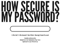 How secure your password?